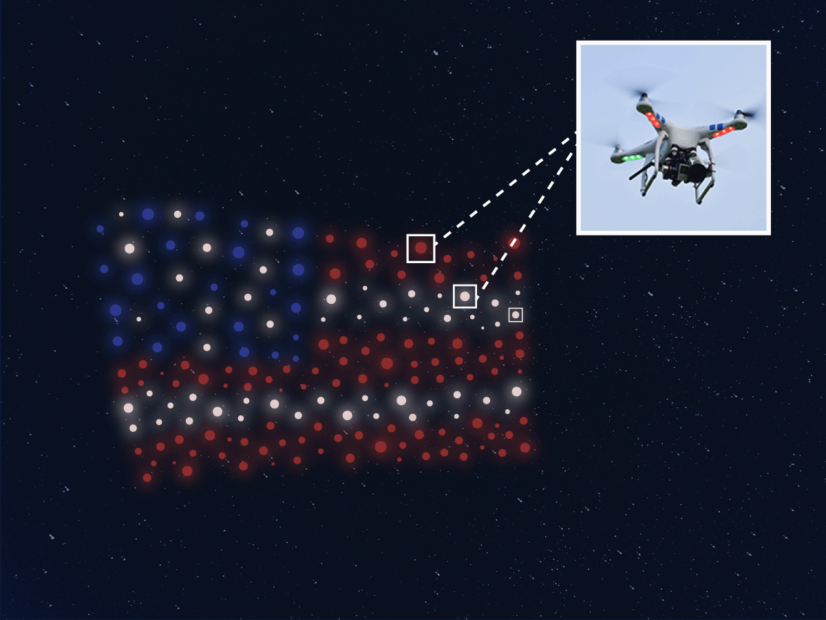 Lady Gaga Drone Flag