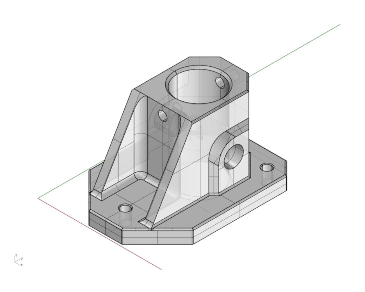 CAD caster mount